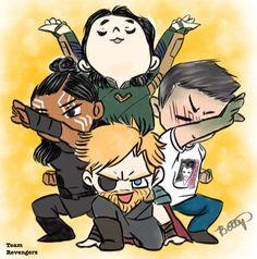 Team revengers. Did the draw the squad thing. #thorragnarok #loki drawn by: dark.london.art on instagram.
