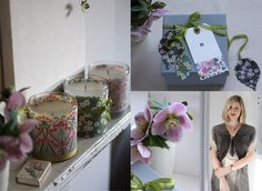 Liberty Print Candle and Gift Box  This is a really simple idea to turn a plain candle into something unique and special. One of these patterned treats, wrapped in tissue in a beautifully decorated box, makes the perfect Mother's day gift. Choose a beautiful Liberty print in your mother's favourite colours to make a gift she will love and display with pride.