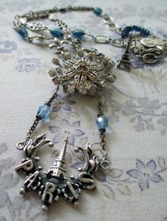 TWILIGHT in PARIS  vintage assemblage necklace by TheFrenchCircus, $169.00 a necklace for francophiles!