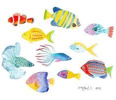 fish. #魚#さかな#水族館に行きたい#illustrator #illust #illustration #水彩#イラストレーター