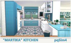 """pqSim4: """"Martika"""" Kitchen. Sims 4 Custom Content."""