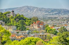 Athens Thission, view over the Church of Agia Marina and the National Observatory Athens City, Athens Greece, Acropolis, Greek Islands, More Photos, Paris Skyline, River, Dreams, Outdoor