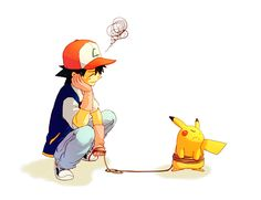 none of the new kids that play pokemon will ever know that pikachu in the beginning never liked ash.
