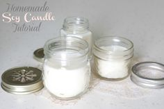 DIY Homemade Soy Candle Tutorial (by the evah so lovely Baker Chick)******LL