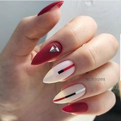 Want some ideas for wedding nail polish designs? This article is a collection of our favorite nail polish designs for your special day. Winter Nail Designs, Short Nail Designs, Nail Polish Designs, Nails Design, Design Ongles Courts, Nail Art Halloween, Matt Nails, Wedding Nail Polish, Geometric Nail