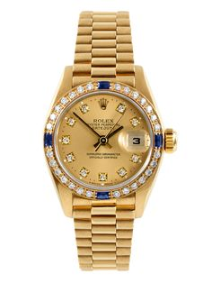Rolex 18K Yellow Gold Presidential Watch, Factory Diamond Dial & Bezel, 26mm by Rolex at Gilt