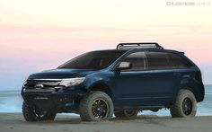 ford edge custom Ford Edge Accessories, 4x4, Little Truck, Going To Work, Van Life, Offroad, Cool Cars, Trucks, Adventure