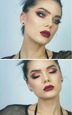Trendy makeup red eyeshadow make up linda hallberg 24 + Trendy Make-up roten Lidschatten bilden Linda Hallberg Linda Hallberg, Maquillage Normal, Beauty Makeup, Hair Makeup, Smokey Eye Makeup, Red Eyeshadow Makeup, Red Eyeliner, Brown Eyeshadow, Red Makeup Looks
