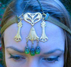 Lotus Antique Brass Headdress by SpiritoftheGoddess  Challenge: Make something similar, inspired by this design!