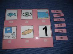 Hemos empezado con la serie rosa. De momento sólo he hecho dos tarjetas con 6 palabras fonéticas de 3 letras. Poco a poco iré confeccionand...