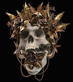 † Origin † on Behance Memento Mori, Dark Fantasy Art, Dark Art, Black And Gold Aesthetic, Sculpture Art, Sculptures, Frida Art, Dark Photography, Skull And Bones