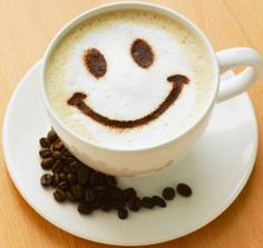 .·:*¨¨*:·.Coffee ♥ Art.·:*¨¨*: Smiley face latte