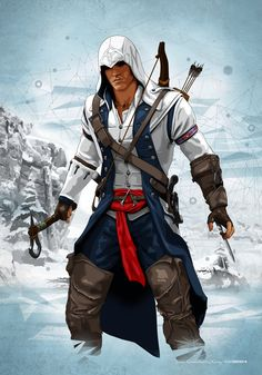 Connor Ratonhnhake:ton Kenway (Frontier 1775) by dimitrosw.deviantart.com on @deviantART