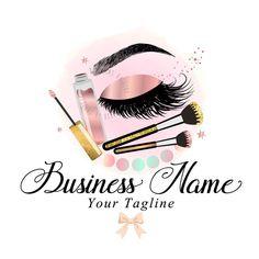 makeup logo – Hair and beauty tips, tricks and tutorials Cosmetic Logo, Eyeliner, Makeup Eyeshadow, Custom Logo Design, Custom Logos, Makeup Business Names, Makeup Artist Business Cards, Logo Couronne, Beauty Makeup