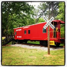 What better place to have a little boy's birthday party! Forest Hill Park Caboose located in Perry, GA Forest Hill Park, Trains Birthday Party, Birthday Parties, Georgia Wedding Venues, Event Venues, Good Night Sleep, Scenery, Shed, Outdoor Structures
