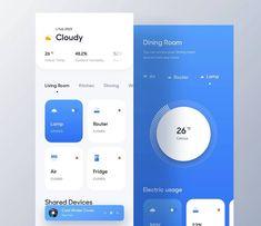 Home Icon App Design Inspiration 24 Ideas Mobile Ui Design, App Ui Design, User Interface Design, Design Design, Smart Home Design, Design Home App, To Do App, App Design Inspiration, Daily Inspiration