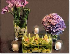 Pretty :) I love the floating orchids!