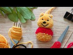 (412) ทำตุ๊กตาปอมปอม-หมีพู : How to Make Winnie the Pooh PomPom - YouTube