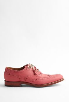 Martha Pink Leather Brogue By Grenson by Grenson