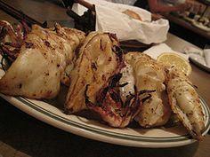 Calamari sti Skara (Grilled Squid)
