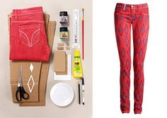 DIY Printed Pants DIY Clothes DIY Refashion