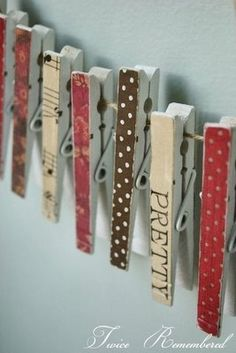 Decorated clothes pins tutorial
