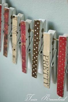 Pinzas de madera con aplicacin en fieltro   Pinzas de la ropa Decorado    Pinterest   Craft