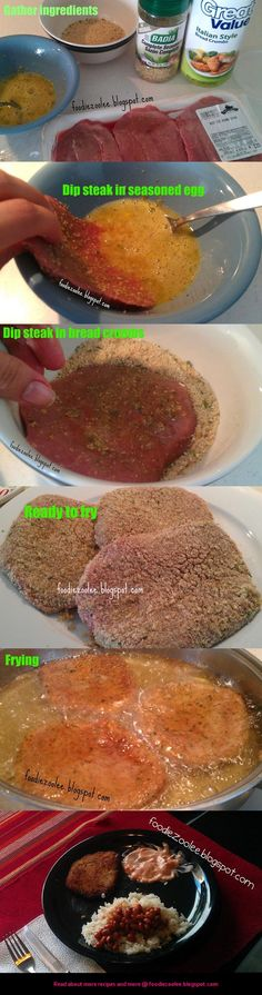 How to make breaded steak, bistec empanado, empanao -- Read full post @ foodiezoolee.com