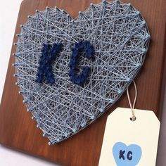 Your place to buy and sell all things handmade City Pride, String Art, Kansas City, Crochet Earrings, Arts And Crafts, Ship, Love, Heart, How To Make
