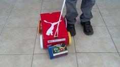Siguiendo instructivos...juguete reciclado
