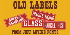 Old Labels JNL was designed by Jeff Levine and published by Jeff Levine. Old Labels JNL contains 1 style. Creative Design, Web Design, Desktop Publishing, Blank Labels, Beautiful Fonts, Premium Fonts, Branding Design, Typography, Advertising Design