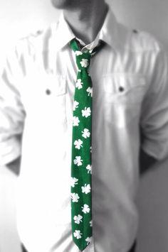 Luck of the Irish St. Patrick's Day Green Necktie on Etsy, $28.00
