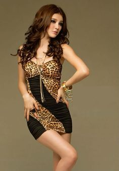 Sexy Leopard Clubwear Party Mini Dress The hottest fashion trend end of 2013 going into 2014. Leopard prints and the in fashion now. Order today♥  One size fits to XS to M