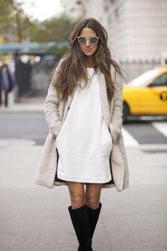 White dress for Winter