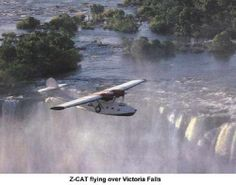 Z-CAT flying over Victoria Falls