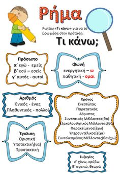 Picture School Lessons, School Hacks, School Fun, Kids Education, Special Education, Early Education, Greek Language, Speech And Language, Learn Greek