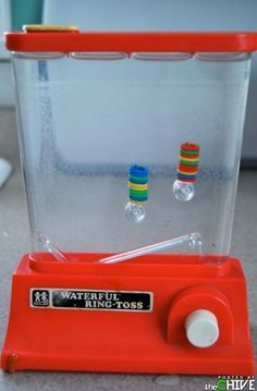 water ring toss! I had so many of these. small ones and big ones, and all colors!! Loved them!!