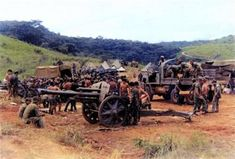 A German 10.5 cm leFH 18M light howitzer (still) in service with the Portuguese Army in Moçambique, 1972.