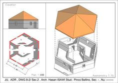 ل8: مأوى سداسي / hexagonal shelter