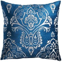 Royal Metallic Printed Pillow - Blue | Pier 1 Imports