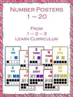 I have added number posters to 1 - 2 - 3 Learn Curriculum. Numbers 1 - 20. These are located on the 1 - 2 - 3 Learn Curriculum web site, under assorted sheets link. Click on picture to access free downloads and learn how to become a members.
