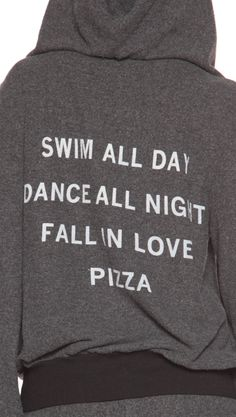 Clean Black Pizza Party Malibu Zip Up Hoodie by Wildfox Summer Fashion Outfits, Cute Summer Outfits, Cute Outfits, Summer Clothes, Style Fashion, Tees, Shirts, Pizza Party, Look Cool