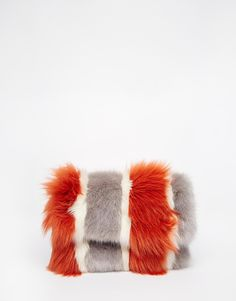 Image 1 of River Island Mixed Fur Clutch