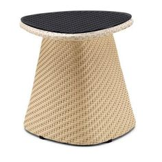 100 Essentials Circle Side Table Finish: Taupe