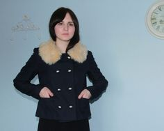 Colette Patterns Anise with furry collar by Louise #sewing