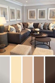 Unique The Biggest Contribution Of Most Popular Living Room Colors To Humanity The Secret Truth About Formal Living Room Uncovered 25 Gorgeous Living Room Color Schemes to Make Your Room Cozy Cozy Living Rooms, Living Room Grey, Home Living Room, Living Room Interior, Apartment Living, Brown And Gold Living Room, Apartment Therapy, Cozy Family Rooms, Living Room Remodel