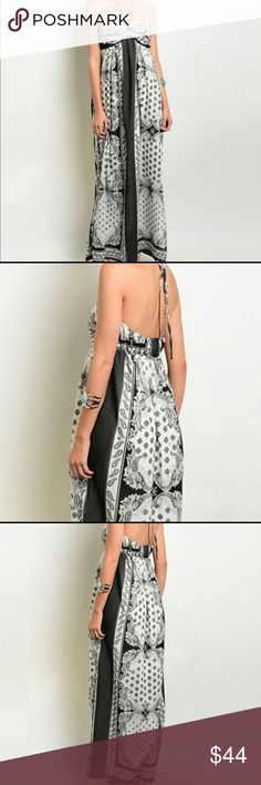 ⛱s u n d r e s s⛱ Flowy maxi lined to the knee, halter neck made beaufully. Silky and sultry. Perfection. Dresses Maxi