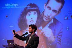 Gergely Ipacs from Hungary presenting the project FilmDrops - interactive TV series and application — w miejscu: Państwowa Wyższa Szkoła Filmowa, Telewizyjna i Teatralna im. Leona Schillera w Łodzi