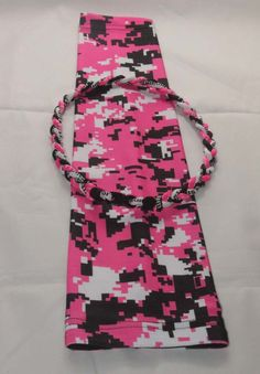 Pink black white camo breast cancer awareness baseball compression arm sleeve with 20 inches baseball tornado necklace