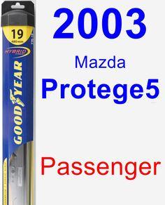 Passenger Wiper Blade for 2003 Mazda Protege5 - Hybrid